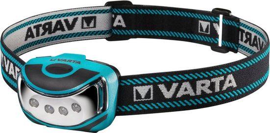 VARTA Stirnlampe »VARTA Outdoor Sports H10 Kopfleuchte inkl. 3x LONGLIFE Power AAA Batterien Kopfleuchte Kopflampe Taschenlampe Stirnlampe robustes (Falltest 2 m) und spritzwassergeschütztes (IPX4) Gehäuse«