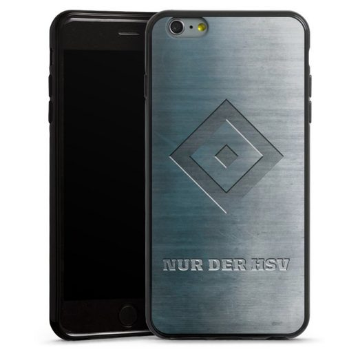 DeinDesign Handyhülle »Nur der HSV Metalllook« Apple iPhone 6 Plus, Hülle HSV Hamburger SV Metallic Look