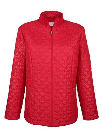 Paola Quilted Jacket With Heart Motifs
