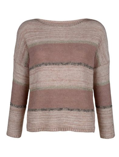 Alba Moda Pullover In Color Harmonious Stripe Dessin
