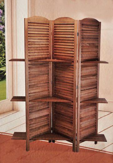 hti living paraventregal mit 3 ablagen kaufen otto. Black Bedroom Furniture Sets. Home Design Ideas