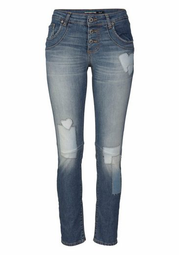 Please Jeans Boyfriend-Jeans P08I, mit modisches Patches