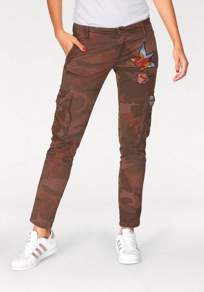 Please Jeans Cargojeans »P26T« mit trendigen Badges | Bekleidung > Jeans > Cargojeans | Braun | Please Jeans
