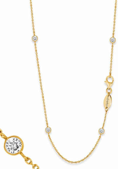 Engelsrufer Silberkette »Little magic, KETTE MOONLIGHT GOLD PLATED, ERN-80-LILMOON-ZI-G«, mit Zirkonia