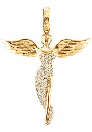 Engelsrufer Engelanhänger »Bright like a diamond, ENGEL MIT STEIN GOLD PLATED, ERP-ANGEL-SG«, mit Zirkonia