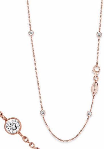 Engelsrufer Silberkette »Little magic, KETTE MOONLIGHT ROSÈ PLATED, ERN-80-LILMOON-ZI-R«, mit Zirkonia