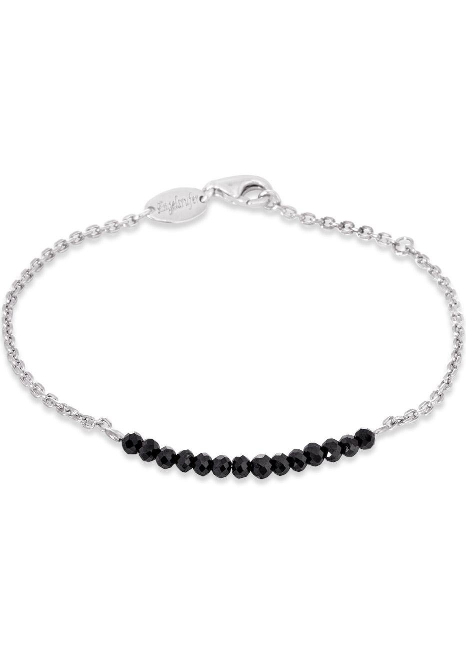 Engelsrufer Silberarmband »Energy of the moon, ARMBAND PLATA BLACK SPINAL, ERB-18-PLATA-BS« mit Spinellen | Schmuck > Armbänder > Silberarmbänder | Silber | Engelsrufer