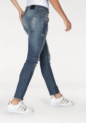 Please Jeans Boyfriend-Jeans P91F, mit rockigen Nieten