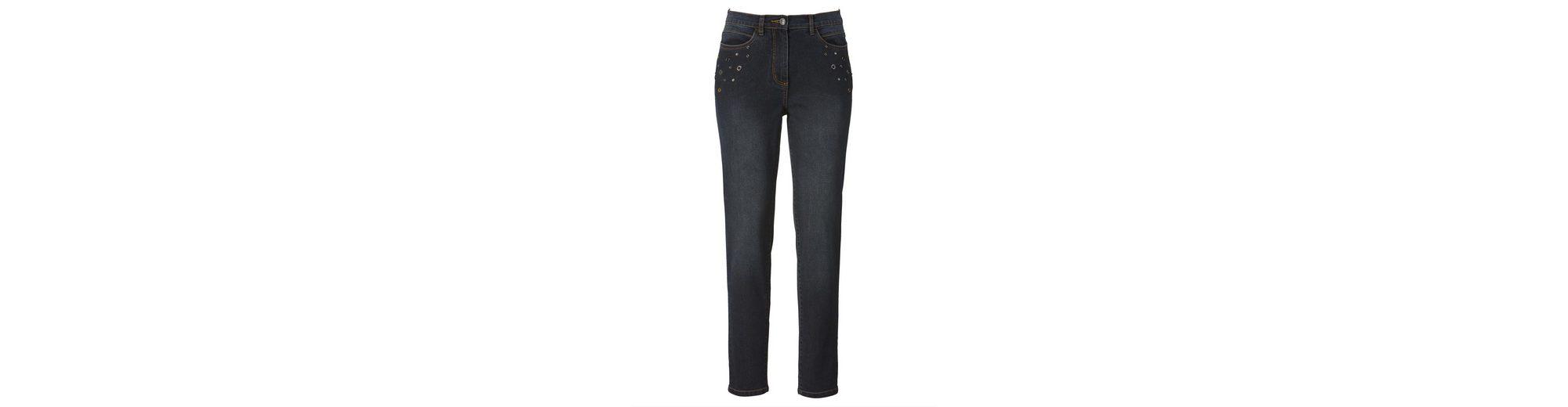 Mona Jeans mit Nieten und Strasszier Steckdose Mit Master Kosten Günstiger Preis Rabatt Mode-Stil KmWOuKd