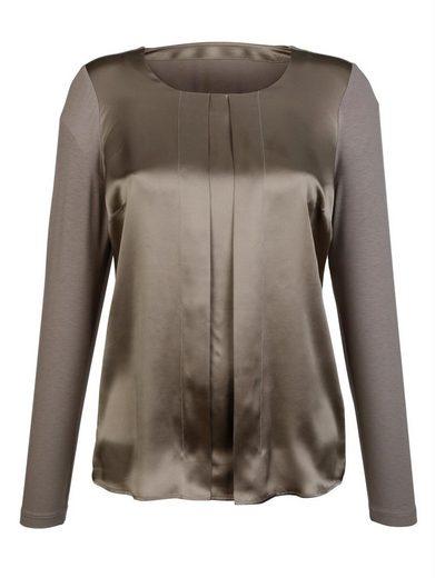 Alba Moda Shirt im Vorderteil aus reiner Seide