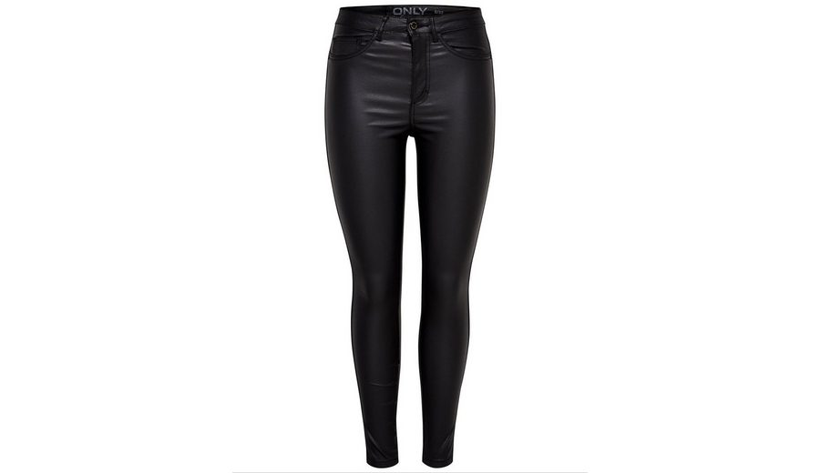 Only Royal high waist ankle coated Skinny Fit Jeans