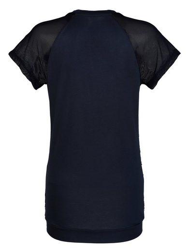 Alba Moda Shirt mit transparenten Meshärmeln