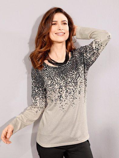 Paola Pullover mit modischem Leopardenmuster