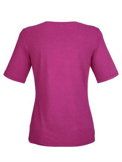Alba Moda Shirt mit Strassdetail am Ausschnitt