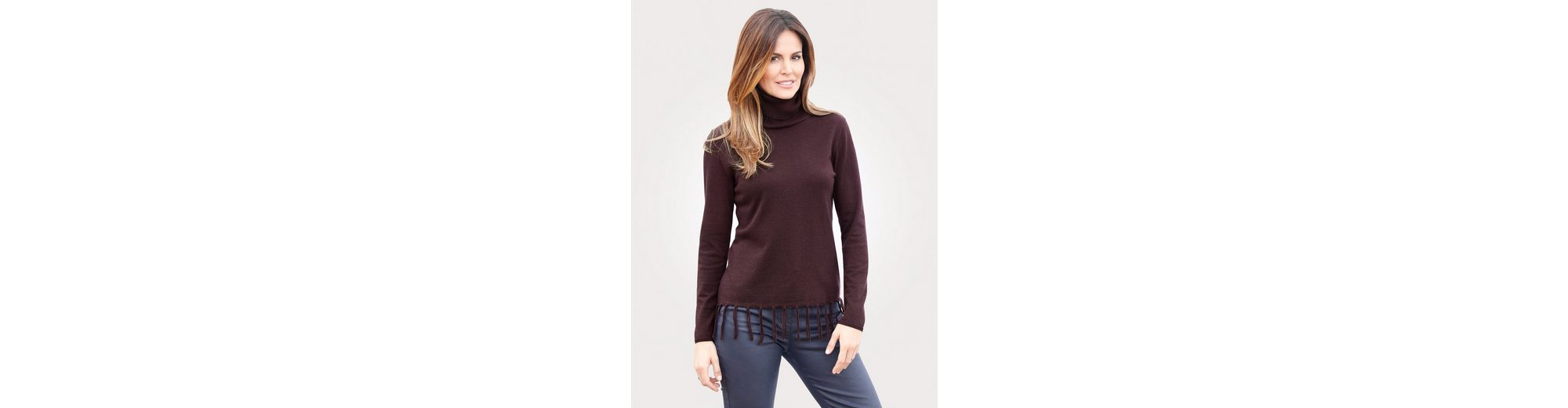 Pullover Mona Pullover Mona mit Fransenzier mit nv7UxqT0w