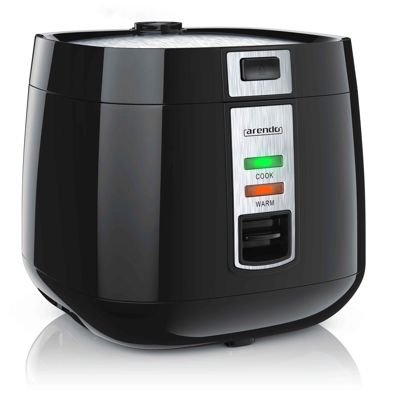 Arendo Reiskocher mit Hitzeschutz & Dampfgareinsatz »automatische Warmhaltefunktion / 1,4 Liter«