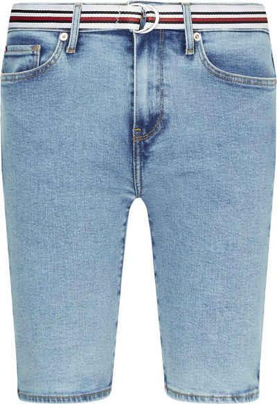 Tommy Hilfiger Shorts »Rome Straight HW Lena Short« mit Gürtel in den typischen Tommy Farben