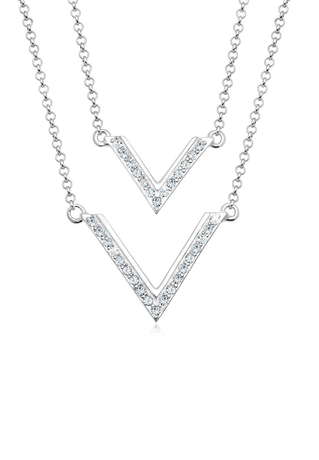 Elli Halskette »Dreieck Swarovski® Kristalle 925 Sterling Silber«