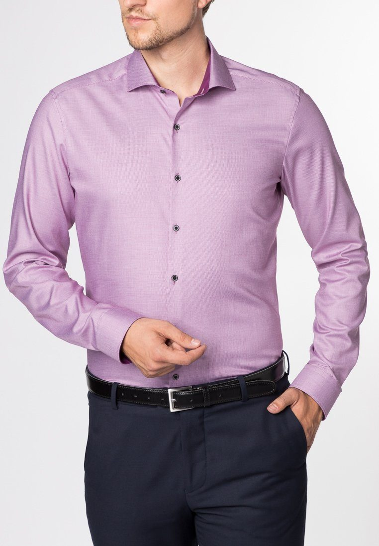 ETERNA Langarm Hemd »SUPER-SLIM Stretch strukturiert«