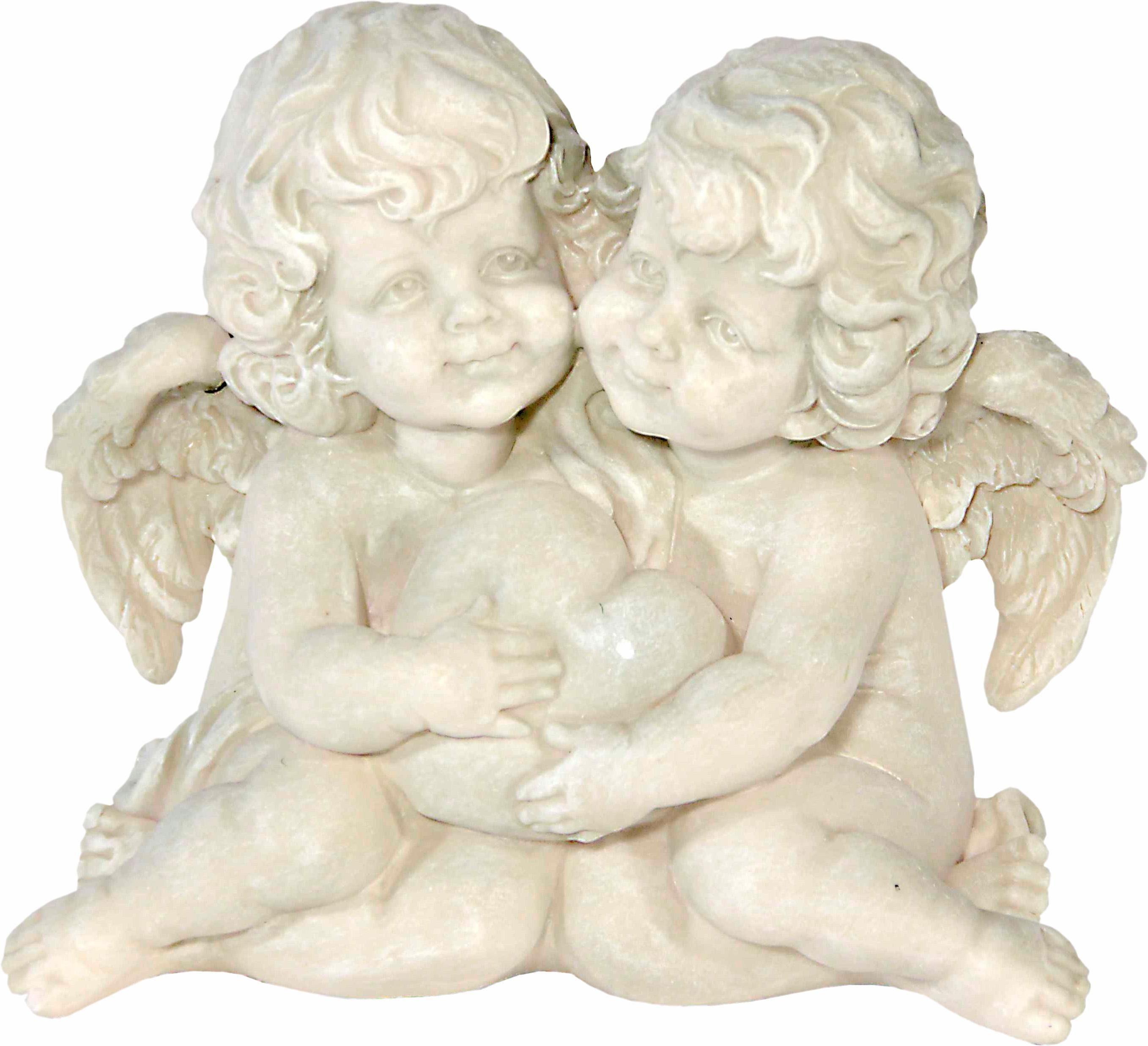 Home affaire Dekofigur »Zwei Engel mit Herz, H 14 cm, B 15 cm«