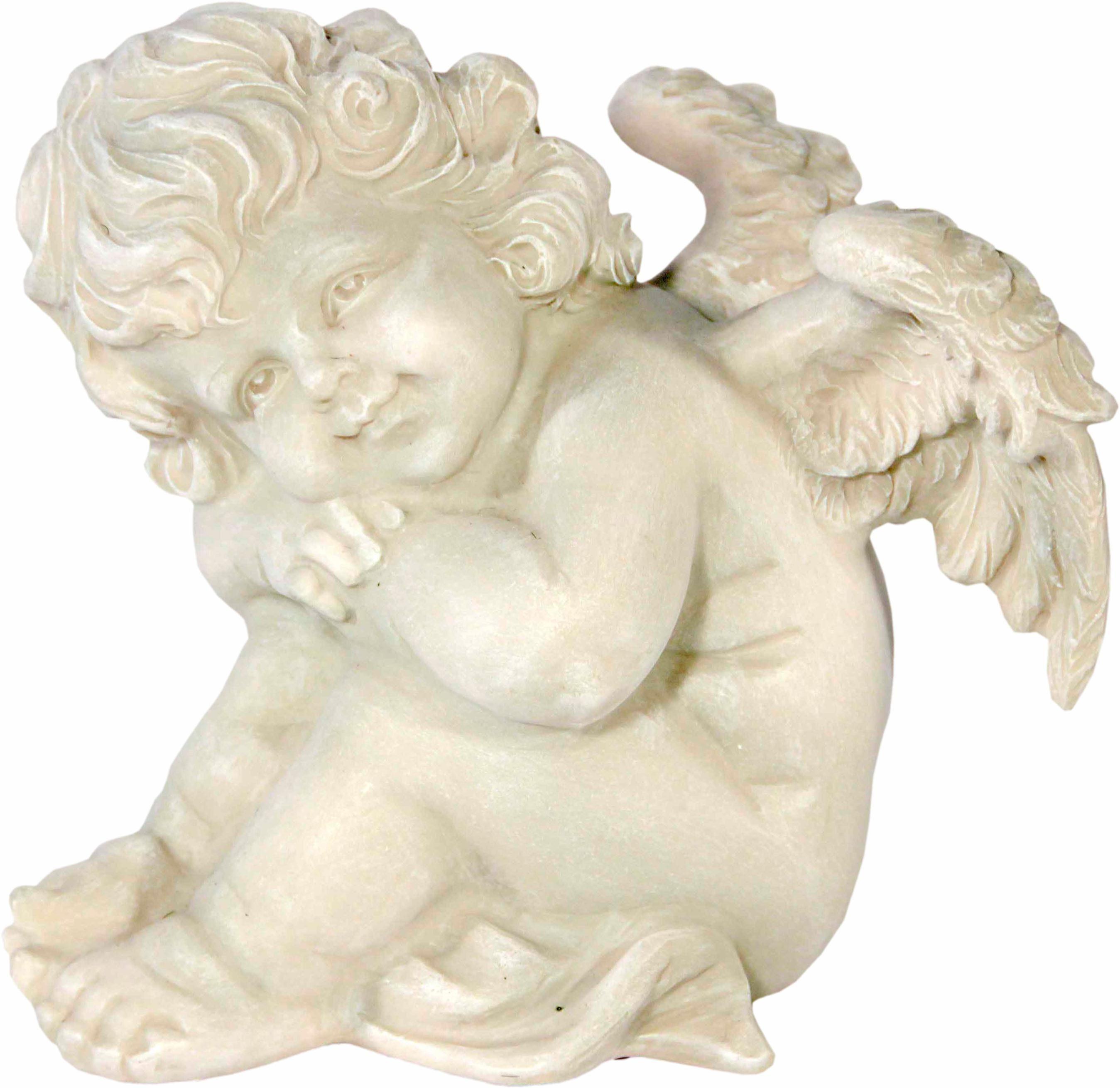 Home affaire Dekofigur »Engel, Hände auf die Knie gestützt, H 16 cm«