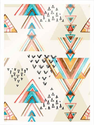 Wall-Art Poster »Bohemian Triangles«, 30/40 cm, gerahmt, Poster, Wandbild, Bild, Wandposter
