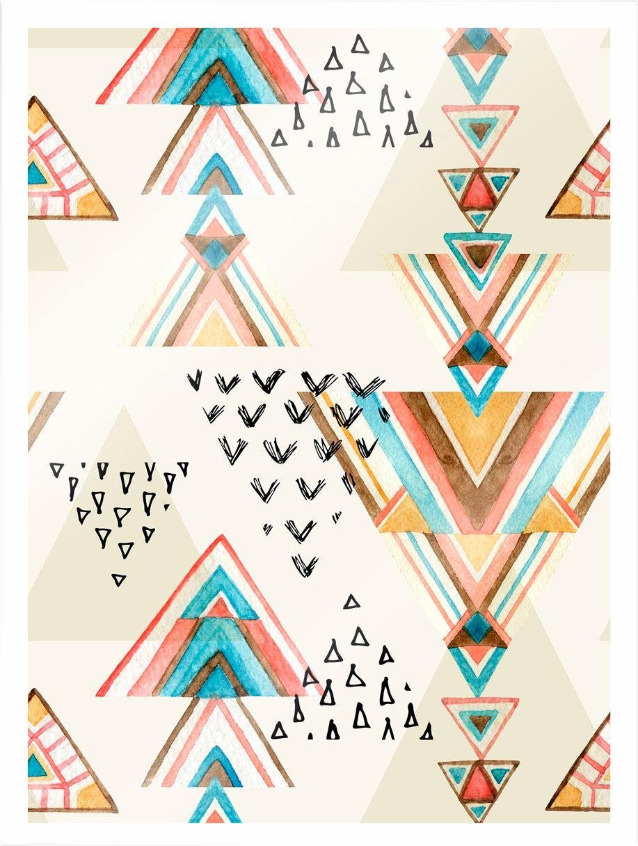 Poster mit Bilderrahmen »Bohemian Triangles«, 30/40 cm