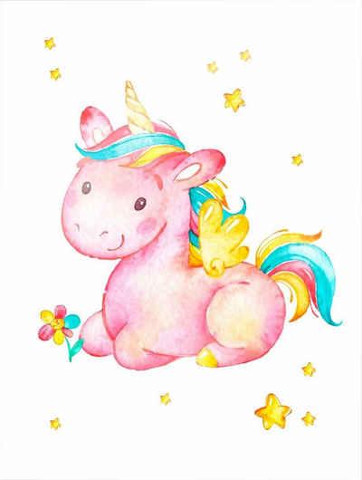 Wall-Art Poster »Pinky the Unicorn«, 40/50 cm, gerahmt, Poster, Wandbild, Bild, Wandposter
