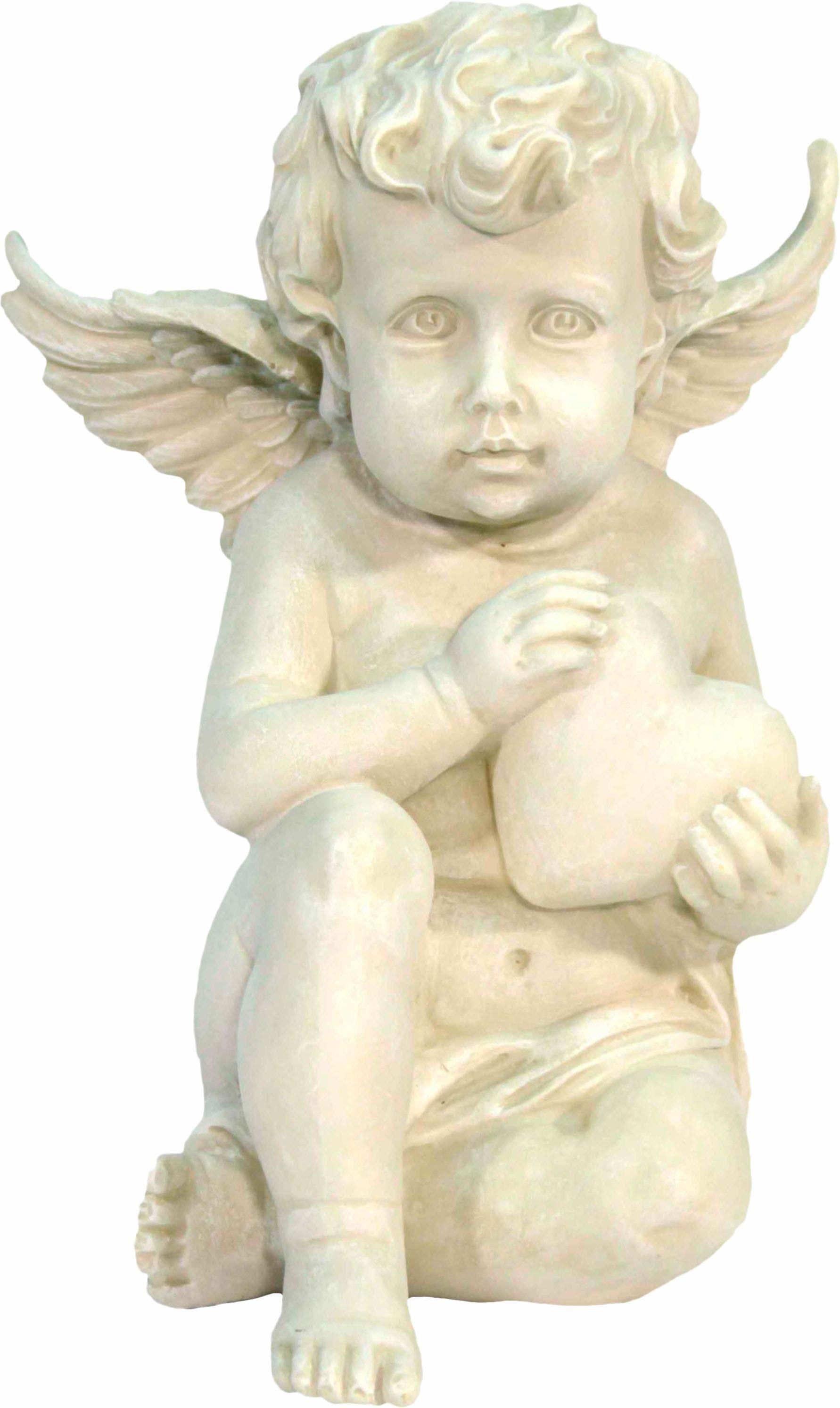 Home affaire Dekofigur »Engel sitzend mit Herz in den Händen, H 20 cm«