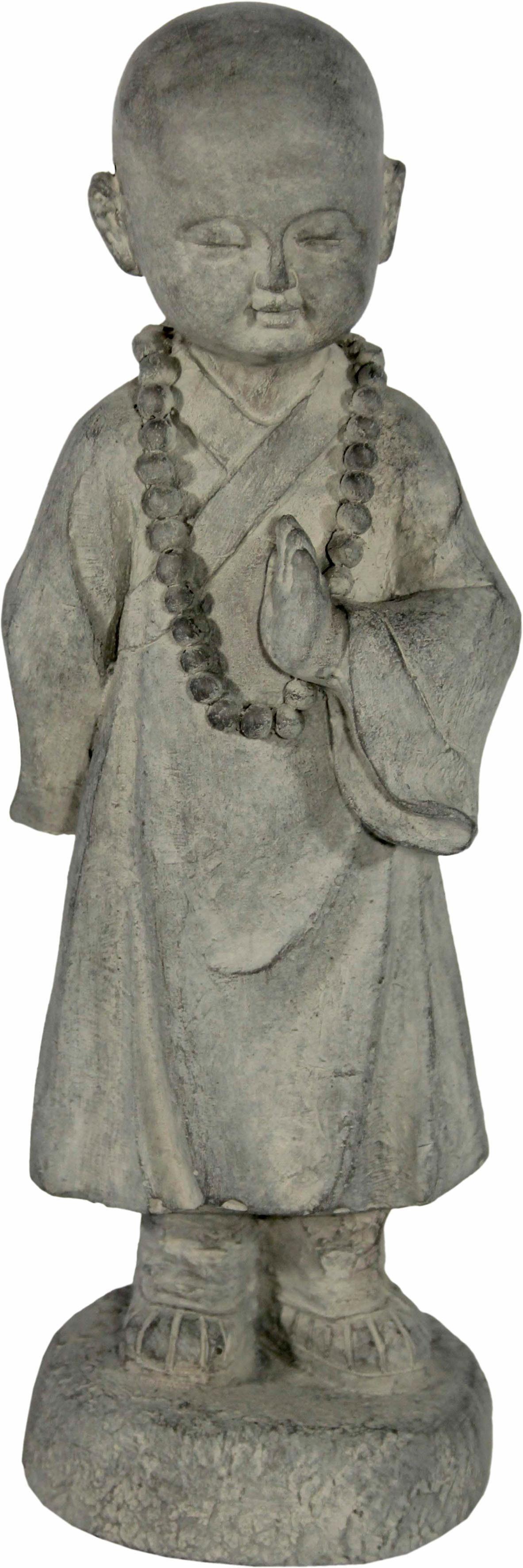 Home affaire Dekofigur »Mönch, stehend, hält linke Hand nach oben, sandfarben, Höhe 41 cm«