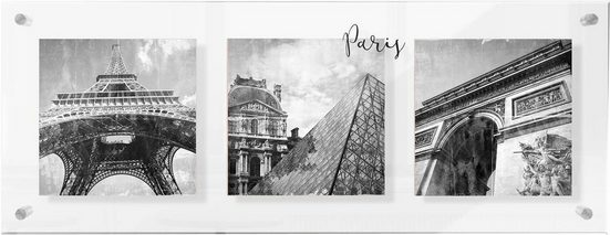 Premium collection by Home affaire Acrylglasbild »Impressions of Paris«, 98/38 cm
