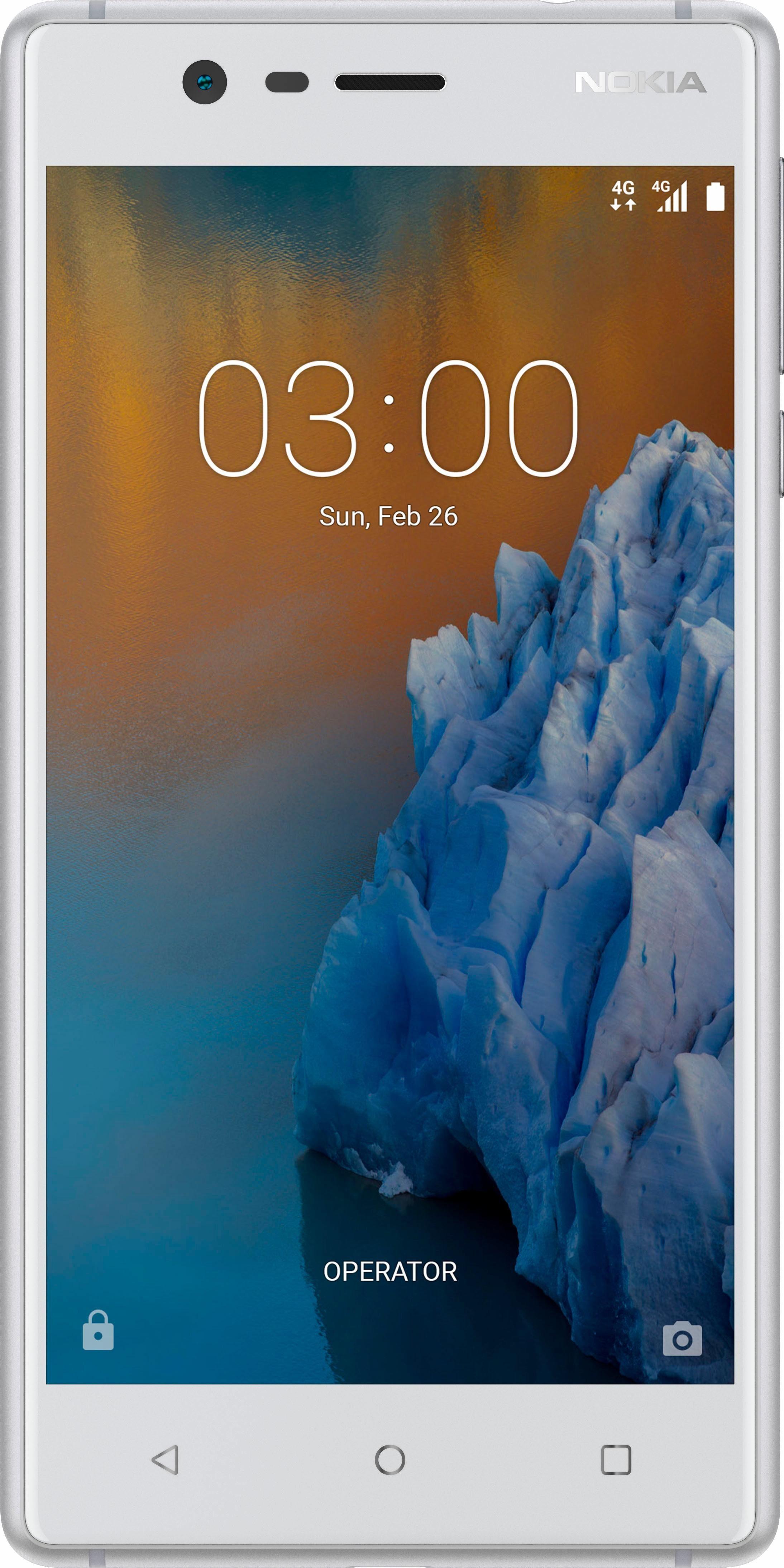 Nokia 3 Dual SIM Smartphone, 12,7 cm (5 Zoll) Display, LTE (4G), Android 7.0 (Nougat), 8,0 Megapixel