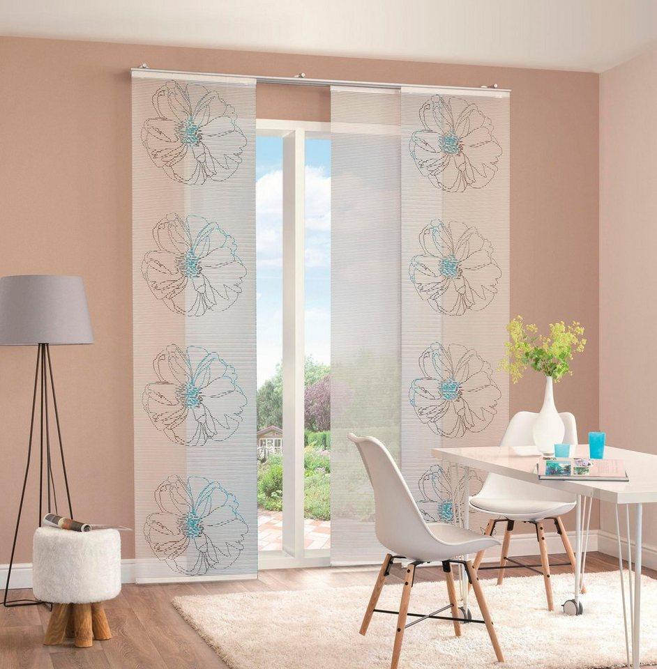 schiebegardine matti home wohnideen klettband 4 st ck inkl befestigungszubeh r online. Black Bedroom Furniture Sets. Home Design Ideas