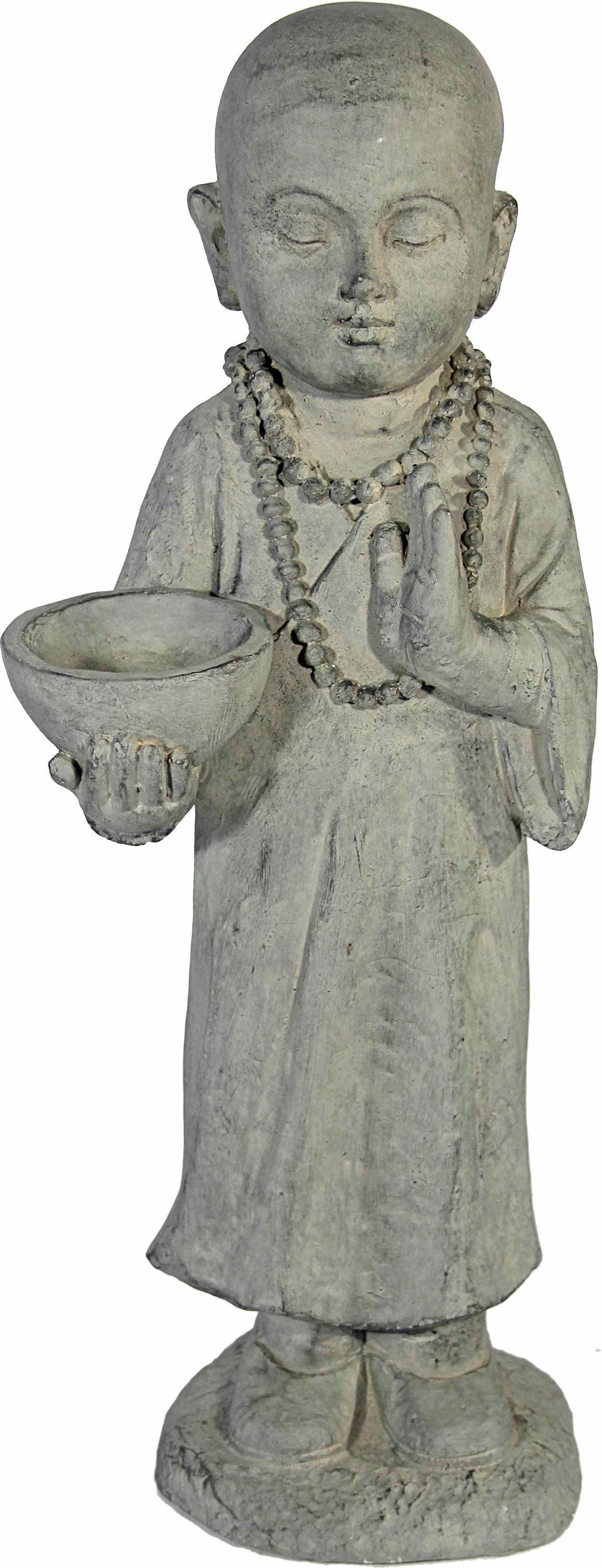 Home affaire Dekofigur »Mönch stehend mit Schale in der rechten Hand, steinoptik, Höhe ca. 50cm«