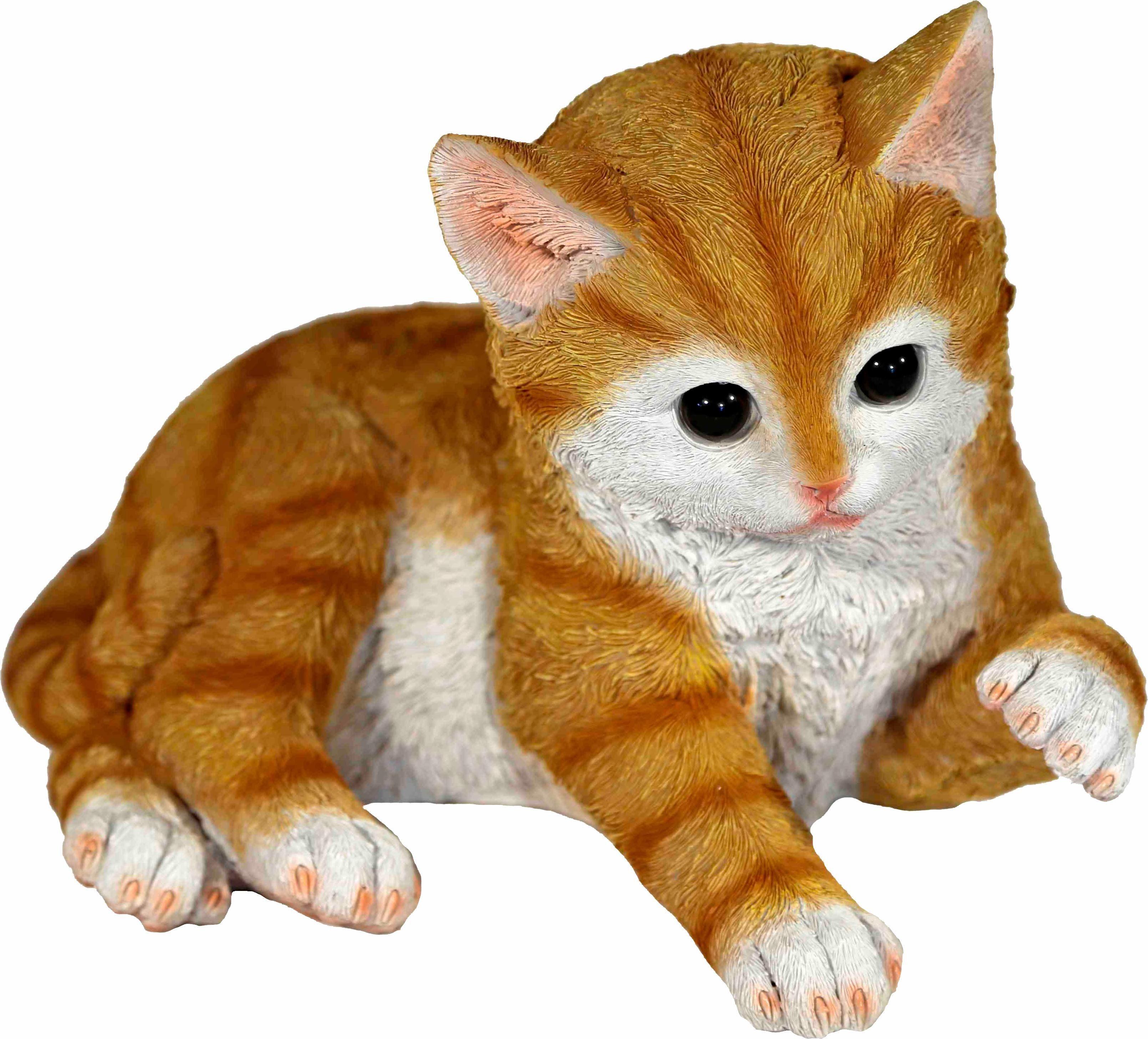 Home affaire Dekofigur »Katze braun, spielend, L 27 cm«