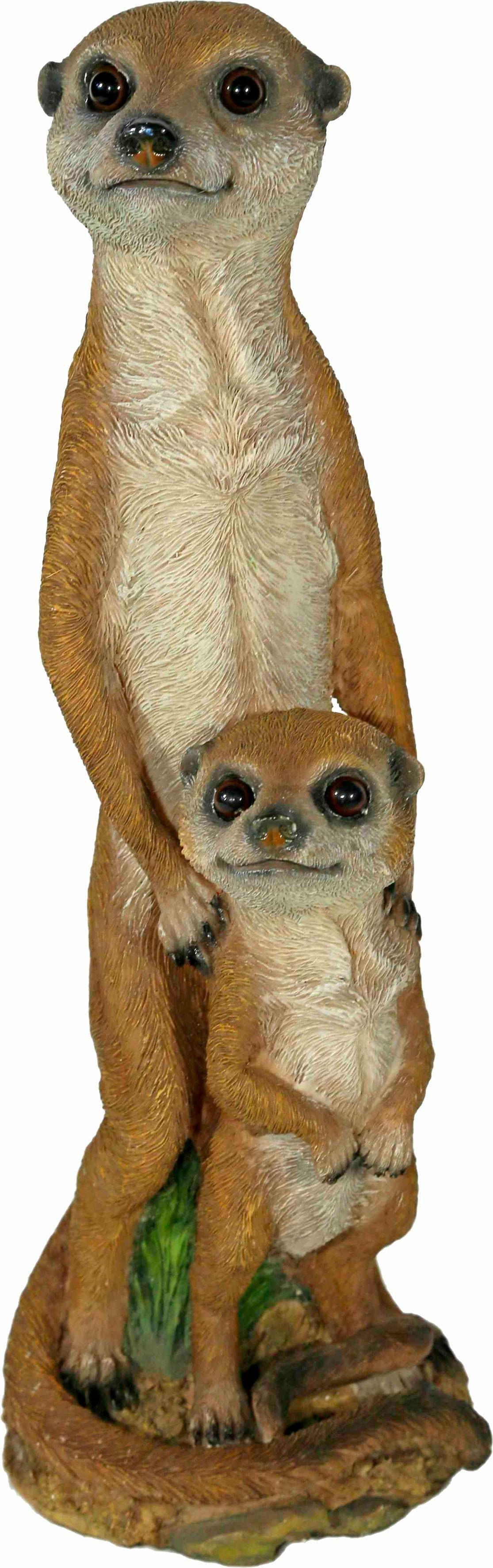 Home affaire Dekofigur »Erdmännchen Mutter mit Kind, H: 35 cm«