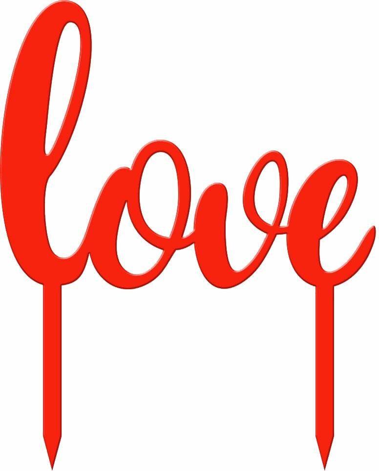 Tortenstecker »Love«, 20/25 cm