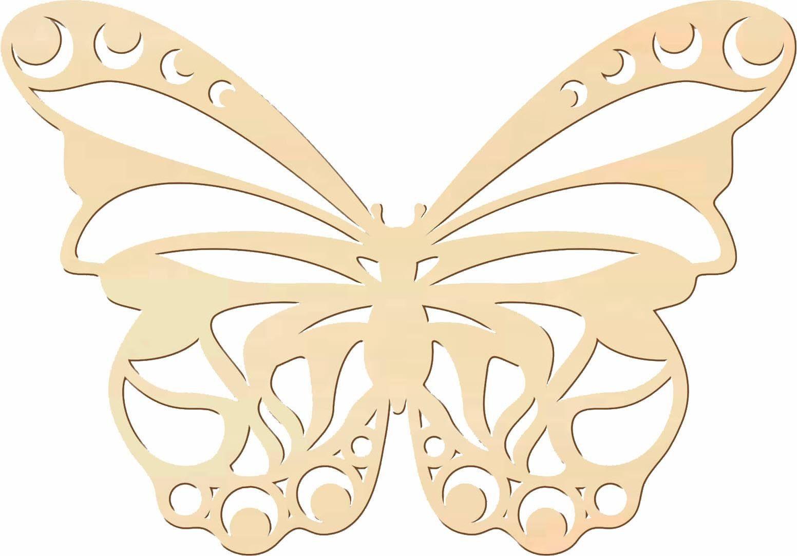 Home affaire Holzkunst Pappel »Schmetterling«, 40/30 cm