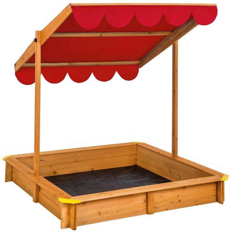 tectake Sandkasten »Sandkasten mit verstellbarem Dach«