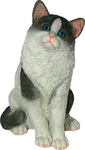 Home affaire Tierfigur »Katze sitzend, schwarz-weiß, Höhe: 38cm«