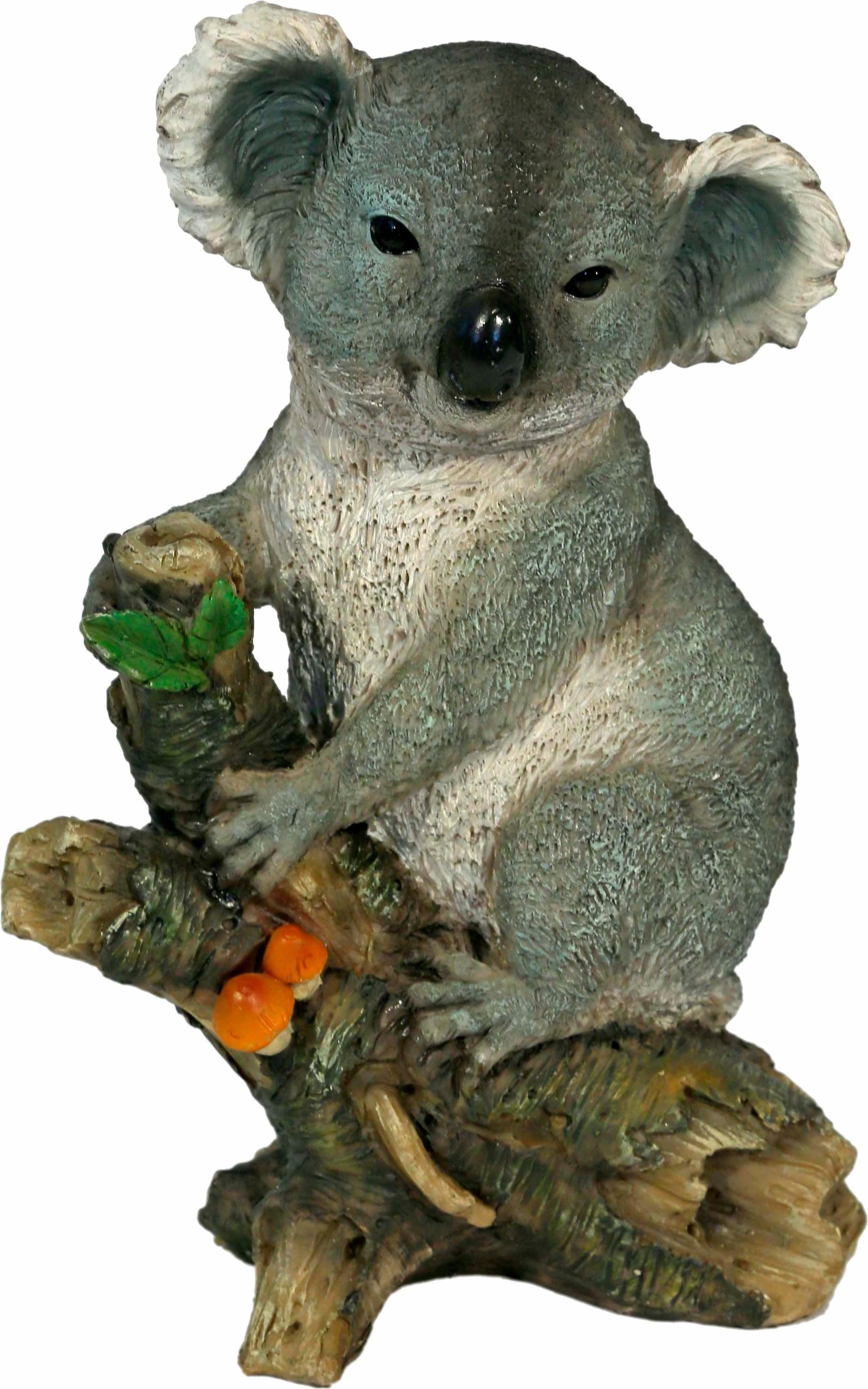 Home affaire Dekofigur »Koala auf Baumstamm stehend, Höhe ca. 25cm«