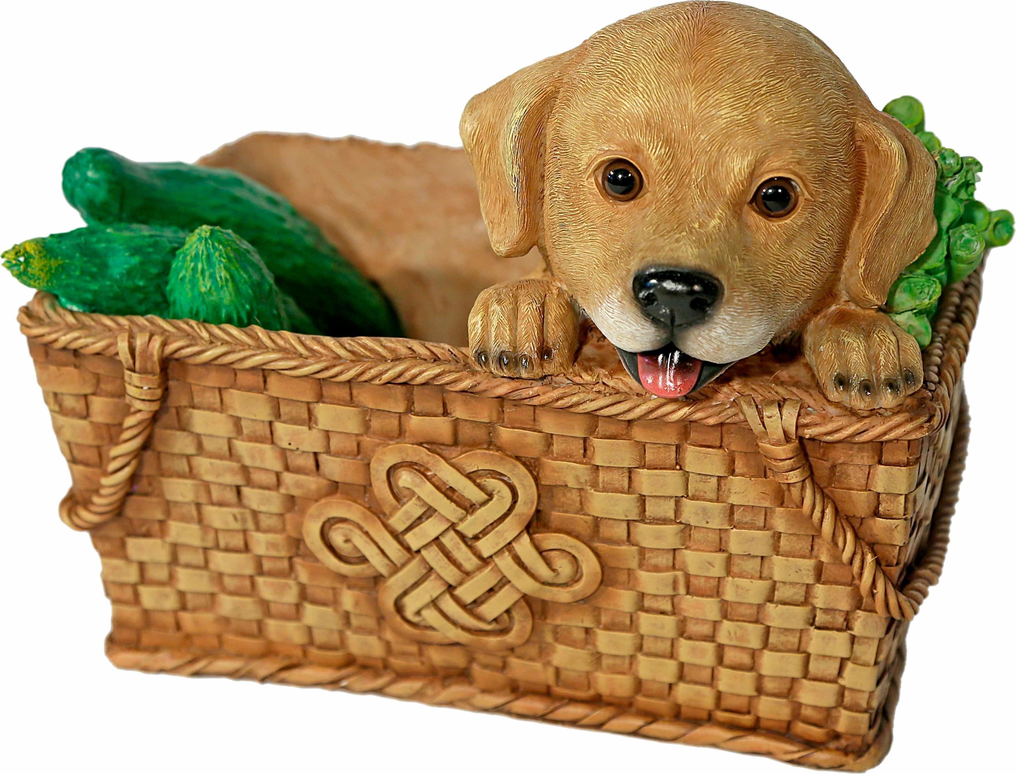 Home affaire Dekofigur »Hund im Korb, Breite ca. 26cm«