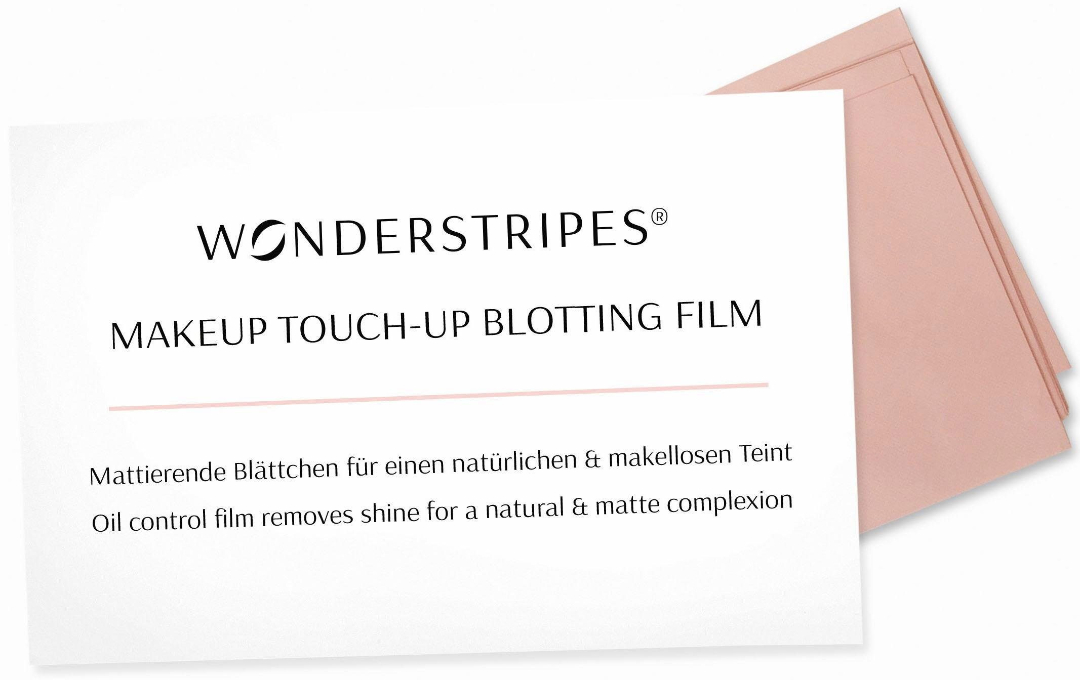 WONDERSTRIPES, »MakeUp Touch-Up Blotting Film«, Mattierende Blättchen für einen natürlichen & makellosen Teint