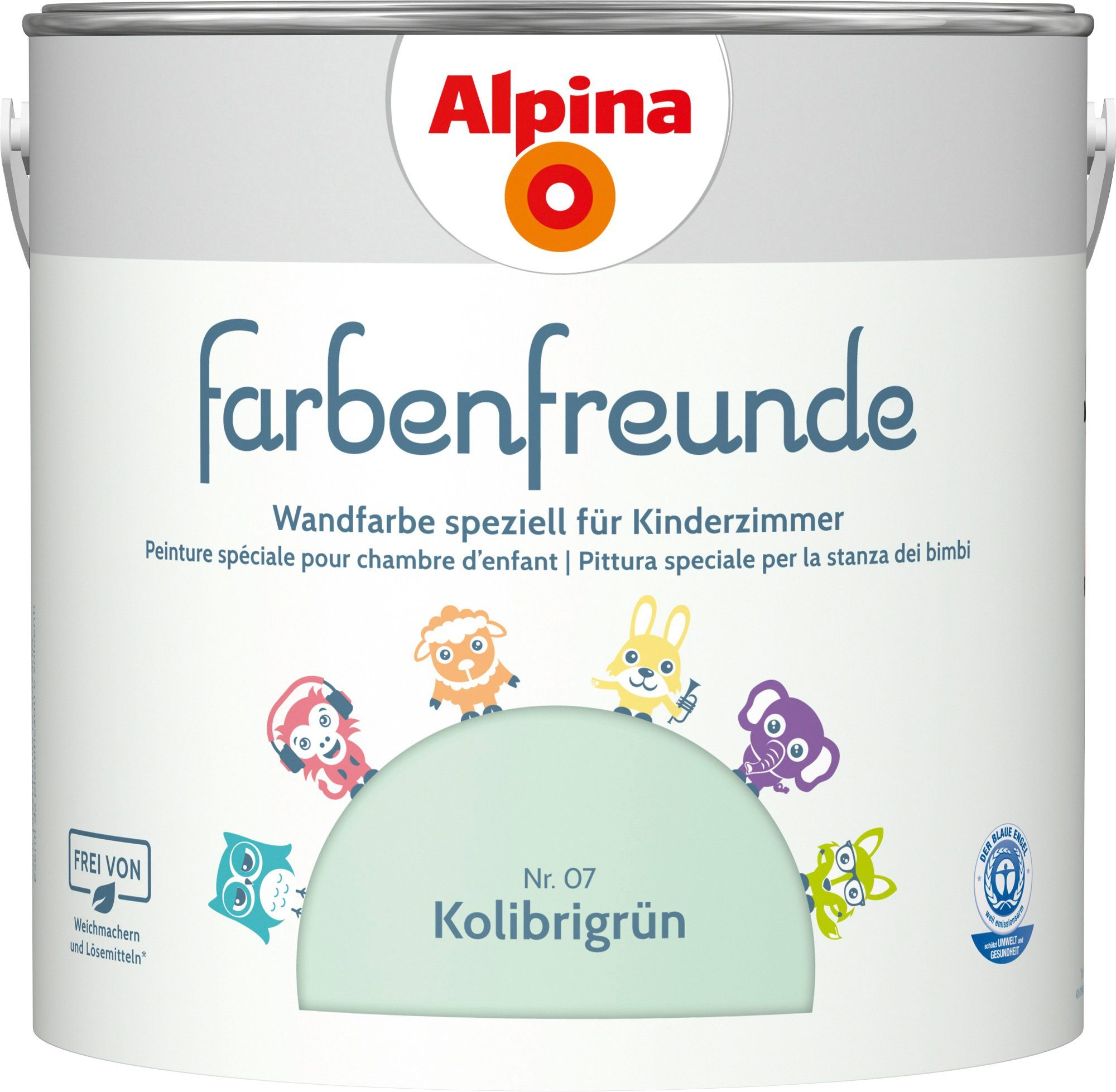 ALPINA Innenfarbe »Farbenfreunde«, Kolibrigrün 2,5 l
