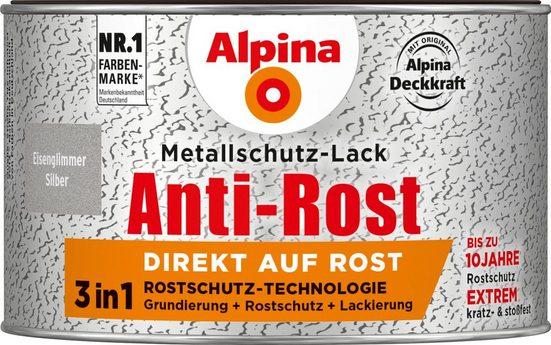 ALPINA Metallschutzlack »Anti-Rost - Eisenglimmer Silber«, 3 in1, 300 ml