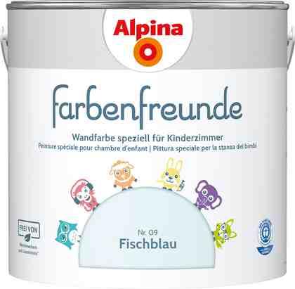 ALPINA Wand- und Deckenfarbe »Farbenfreunde«, Fischblau 2,5 l