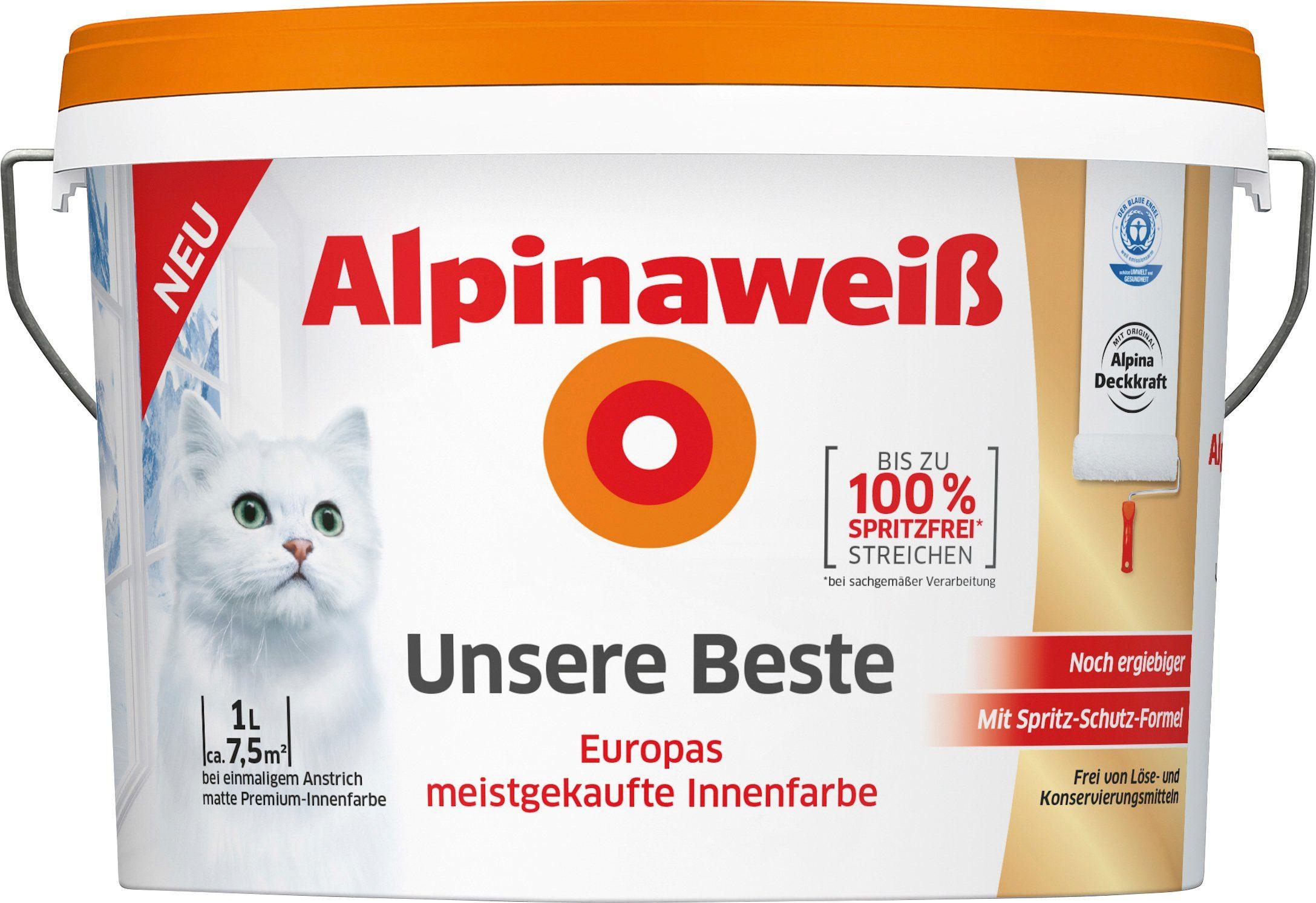 ALPINA Innenfarbe »Unsere Beste«, Alpinaweiß 1 l