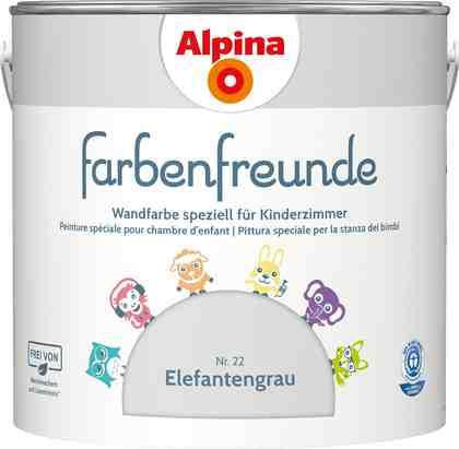 ALPINA Wand- und Deckenfarbe »Farbenfreunde«, Elefantengrau 2,5 l