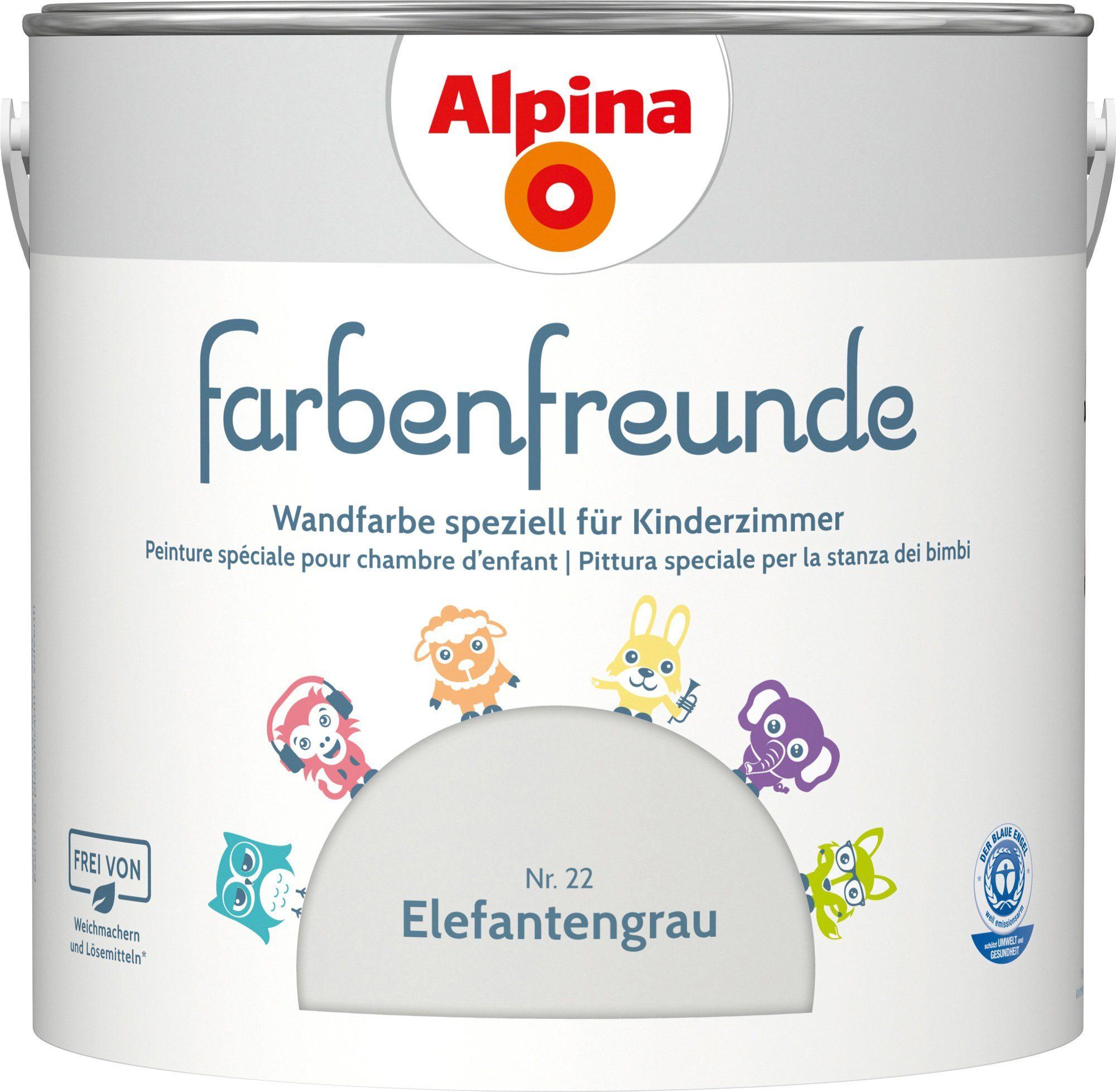 ALPINA Innenfarbe »Farbenfreunde«, Elefantengrau 2,5 l