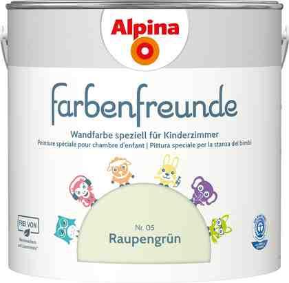 ALPINA Wand- und Deckenfarbe »Farbenfreunde«, Raupengrün 2,5 l